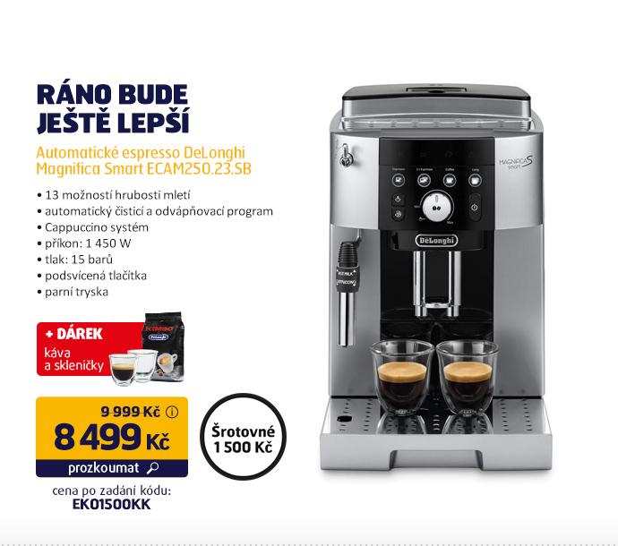 Automatické espresso DeLonghi Magnifica Smart ECAM250.23.SB