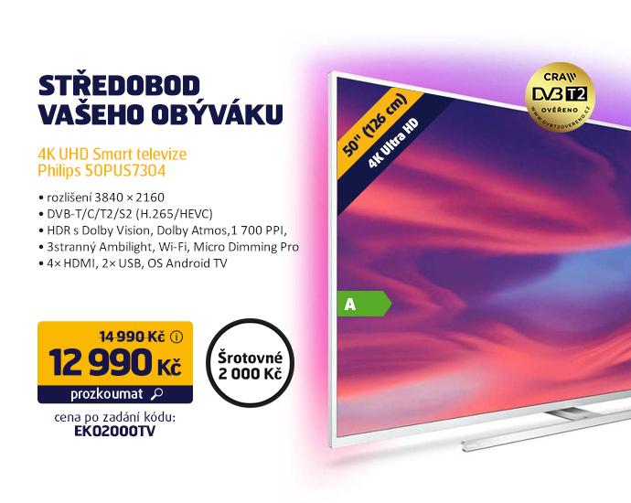4K UHD Smart televize Philips 50PUS7304