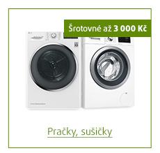 Šrotovné až 3 000 Kč na vybrané pračky a sušičky