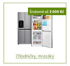 Šrotovné až 3 000 Kč na vybrané chladničky a mrazáky