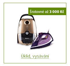 Šrotovné až 3 000 Kč na vybrané produkty pro úklid a vysávání