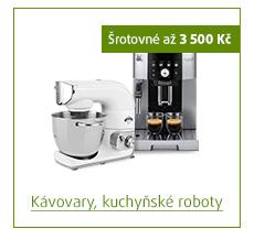 Šrotovné až 3 500 Kč na vybrané kávovary a kuchyňské roboty