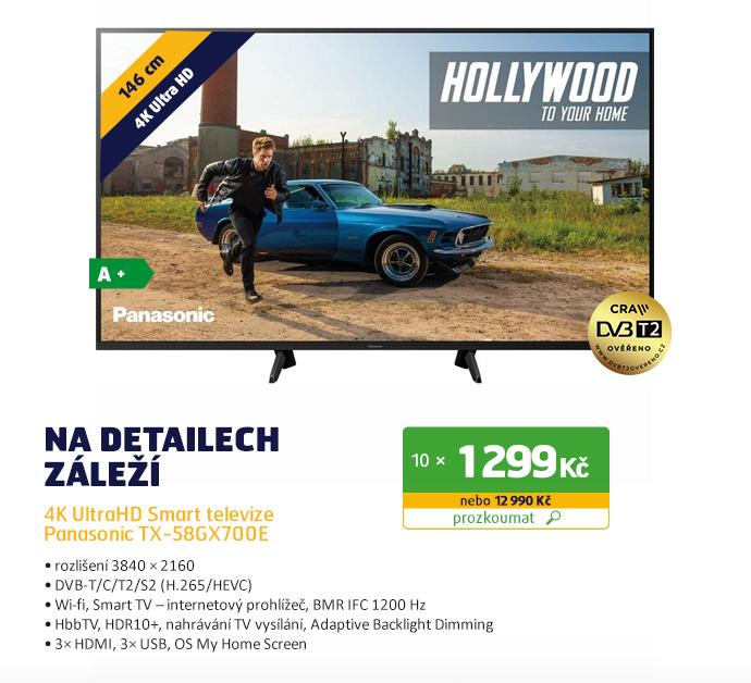 4K UltraHD Smart televize Panasonic TX-58GX700E