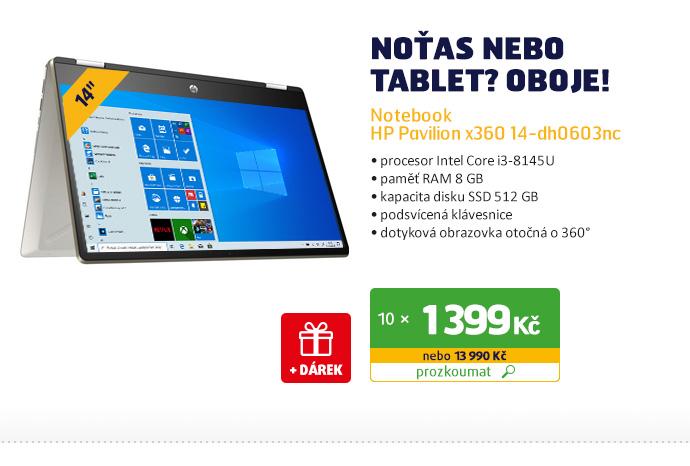 Notebook HP Pavilion x360 14-dh0603nc