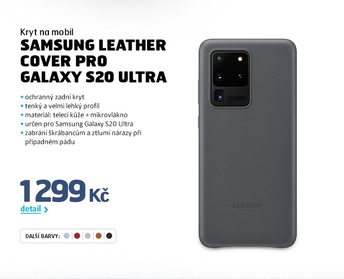 Kryt na mobil Samsung Leather Cover pro Galaxy S20 Ultra