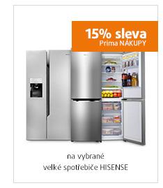 15% sleva na vybrané velké spotřebiče HISENSE