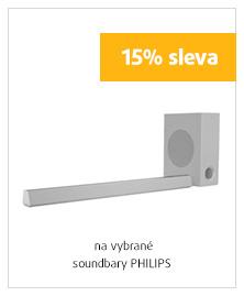 15% sleva na vybrané soundbary PHILIPS