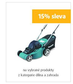 15% sleva na vybrané produkty z kategorie dílna a zahrada