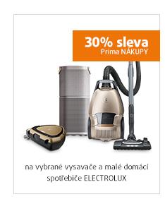 30% sleva na vysavače a malé domácí spotřebiče Elextrolux