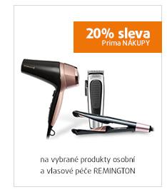 20% sleva na vybrané produkty osobní a vlasové péče REMINGTON