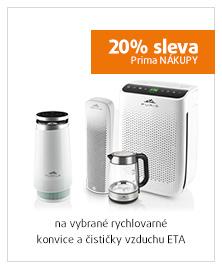 20% sleva na vybrané rychlovarné konvice a čističky vzduchu ETA
