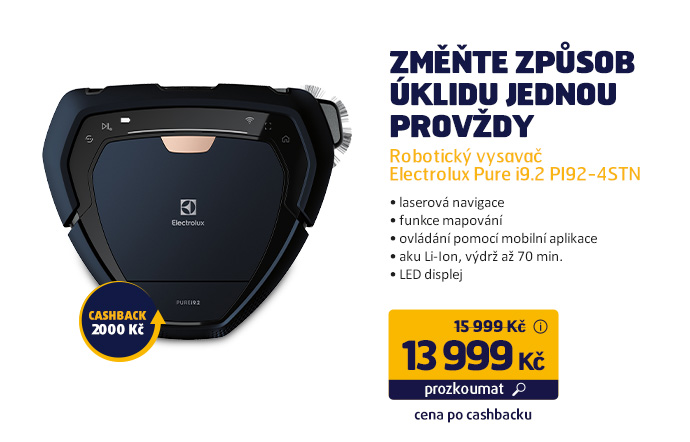 Robotický vysavač Electrolux Pure i9.2 PI92-4STN