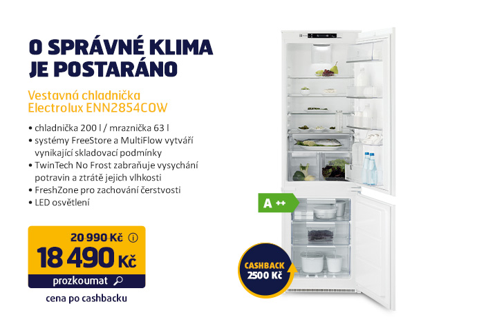 Vestavná chladnička Electrolux ENN2854COW