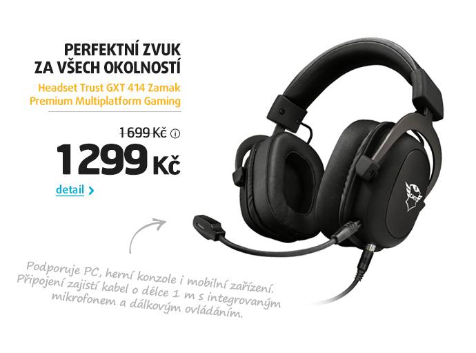 Headset Trust GXT 414 Zamak Premium Multiplatform Gaming