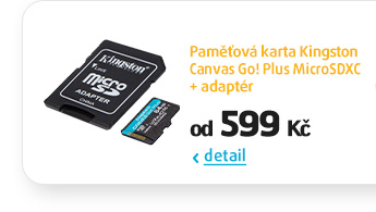 Paměťová karta Kingston Canvas Go! Plus MicroSDXC + adaptér