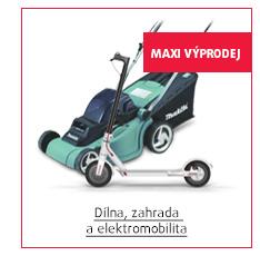 MAXI Výprodej: Dílna, zahrada, elektromobilita