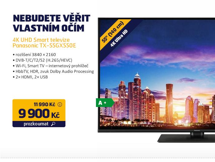 4K UHD Smart televize Panasonic TX-55GX550E