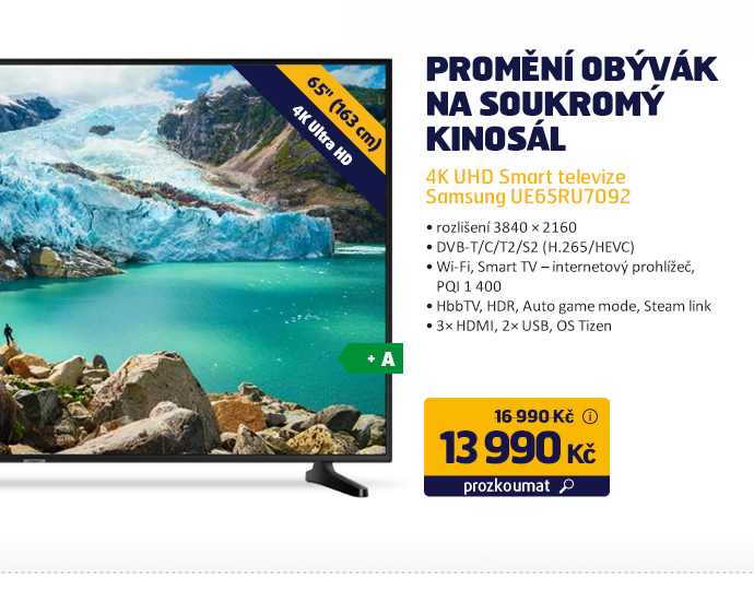 4K UHD Smart televize Samsung UE65RU7092