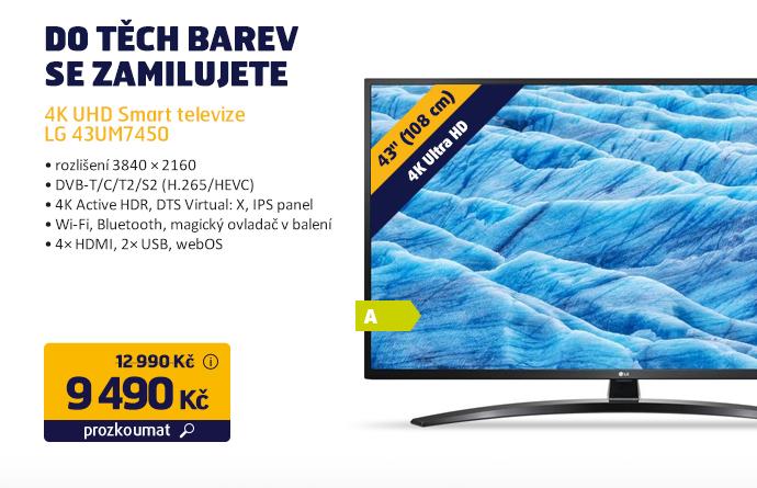 4K UHD Smart televize LG 43UM7450