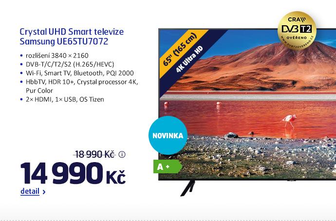 Crystal UHD Smart televize Samsung UE65TU7072