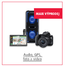 MAXI Výprodej: Audio, GPS, foto a video
