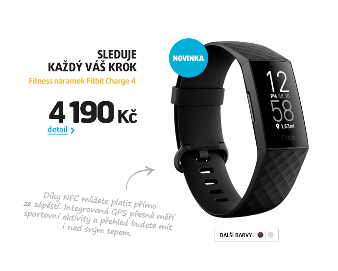 Fitness náramek Fitbit Charge 4