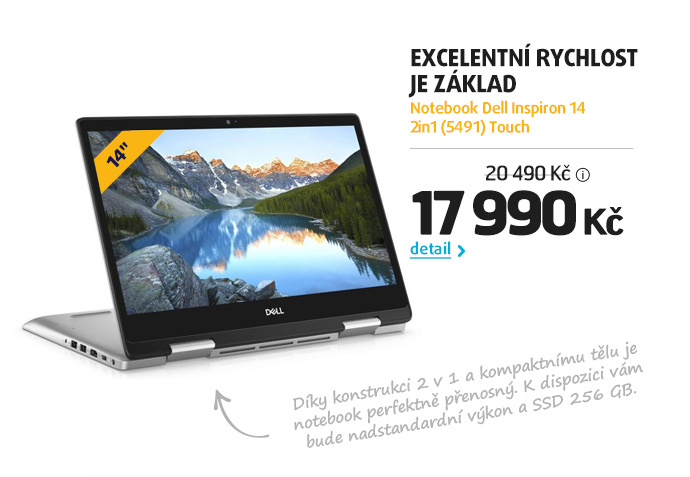 Notebook Dell Inspiron 14 2in1 (5491) Touch