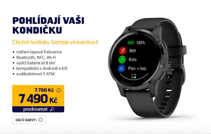 Chytré hodinky Garmin vívoactive4