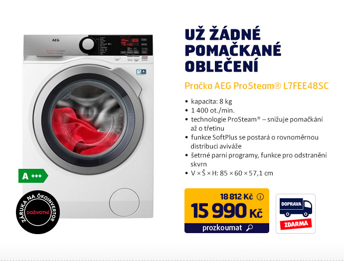 Pračka AEG ProSteam® L7FEE48SC