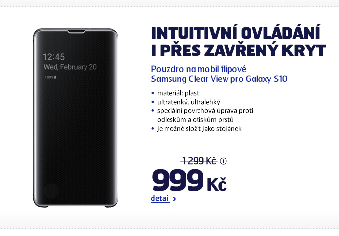 Pouzdro na mobil flipové Samsung Clear View pro Galaxy S10