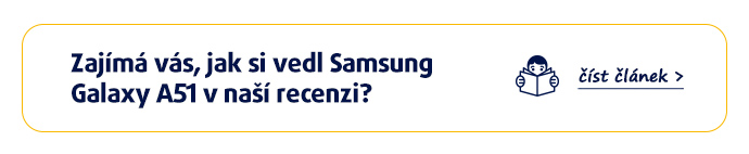Zajímá vás, jak si vedl Samsung Galaxy A51 v naší recenzi? >>přečíst článek