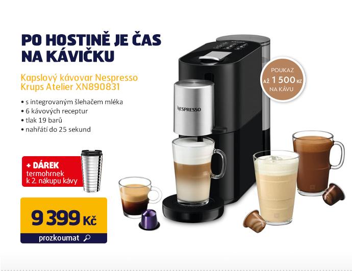 Kapslový kávovar Nespresso Krups Atelier XN890831