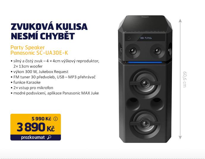 Party Speaker Panasonic SC-UA30E-K