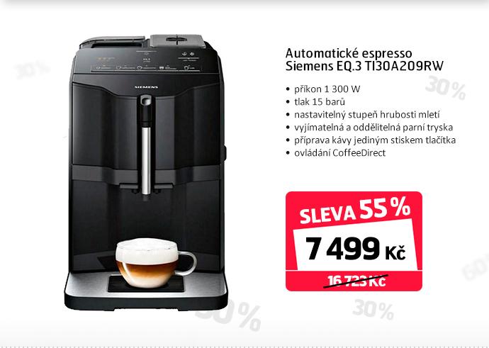 Automatické espresso Siemens EQ.3 TI30A209RW