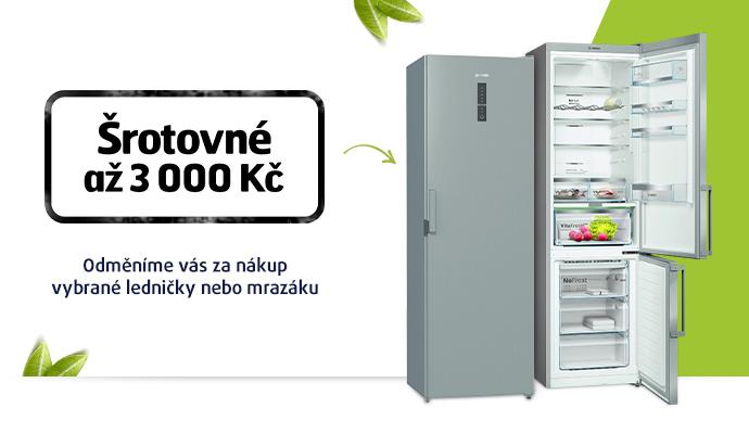 Šrotovné na chladničky a mrazáky