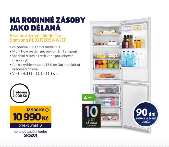 Beznámrazová chladnička Samsung RB33J3205WW/EF