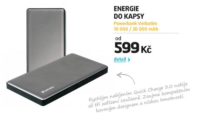 Powerbank Verbatim 10 000 / 20 000 mAh