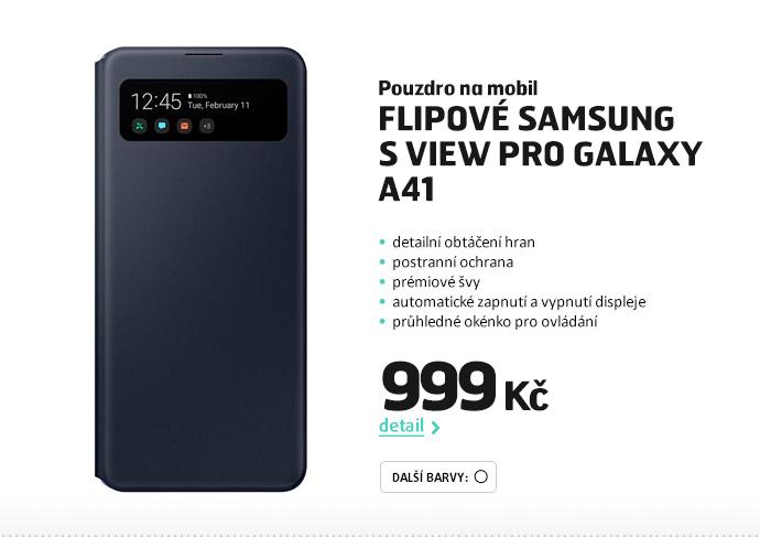 Pouzdro na mobil flipové Samsung S View pro Galaxy A41