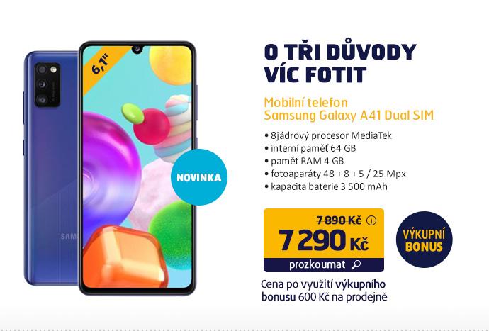 Mobilní telefon Samsung Galaxy A41 Dual SIM