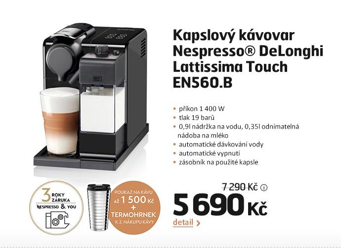 Kapslový kávovar Nespresso® DeLonghi Lattissima Touch EN560.B