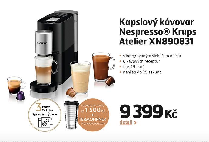 Kapslový kávovar Nespresso® Krups Atelier XN890831