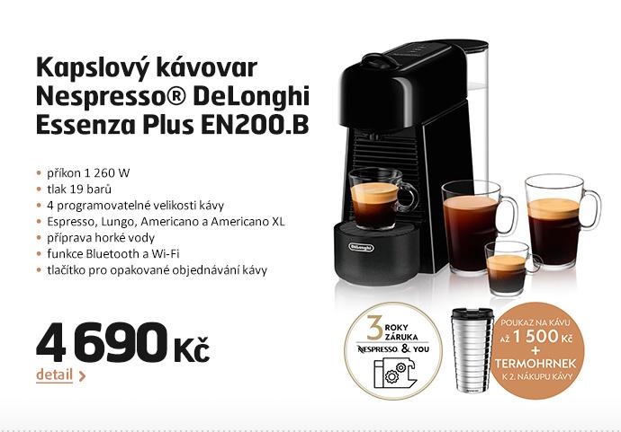 Kapslový kávovar Nespresso® DeLonghi  Essenza Plus EN200.B