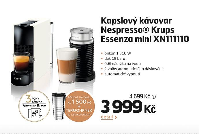 Kapslový kávovar Nespresso® Krups Essenza mini XN111110
