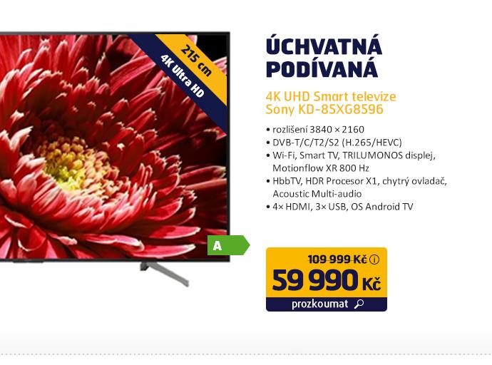 4K UHD Smart televize Sony KD-85XG8596
