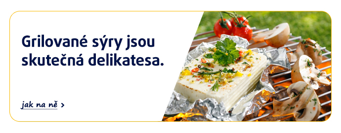 Grilované sýry jsou skutečná delikatesa.