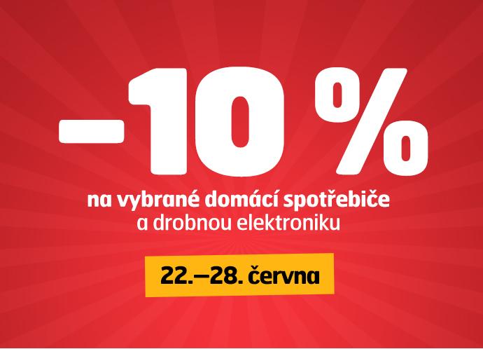 10 % sleva na vybrané domácí spotřebiče