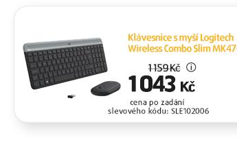 Klávesnice s myší Logitech Wireless Combo Slim MK470