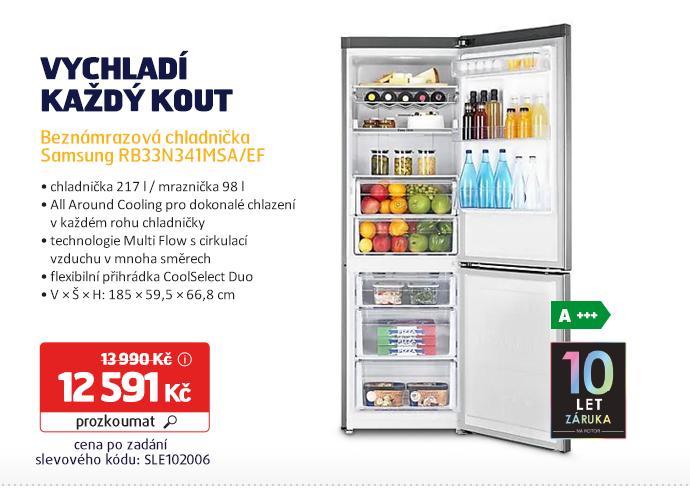 Beznámrazová chladnička Samsung RB33N341MSA/EF