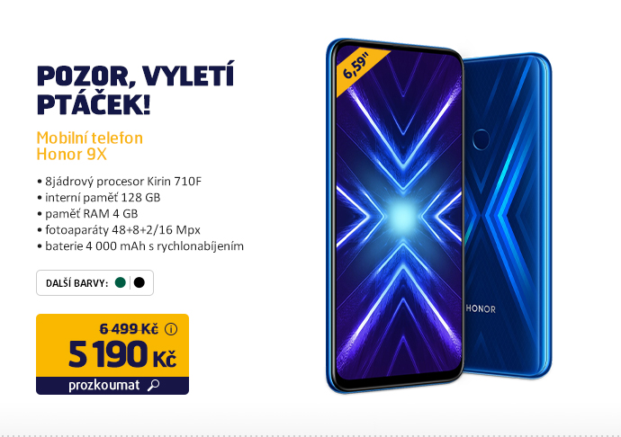 Mobilní telefon Honor 9X