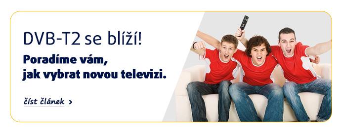 DVB-T2 se blíží! Poradíme vám, jak vybrat novou televizi. >přečíst článek